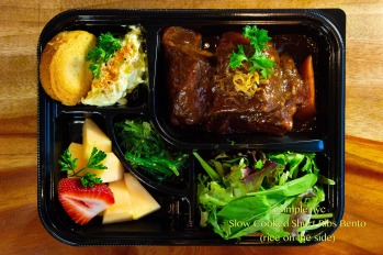 Slow Cooked Short Ribs Bento