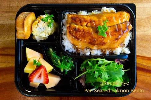 Pan Seared Salmon Bento Box