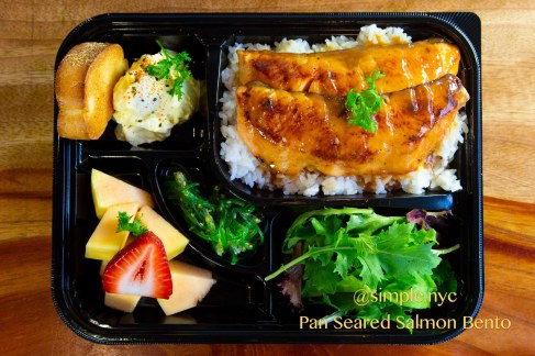 Pan Seared Salmon Bento Box